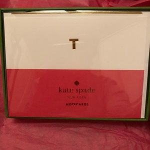 NWT - Kate Spade Dipped Initial Card Set 'T'